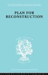 Plan for Reconstruction - William Harold Hutt - cover