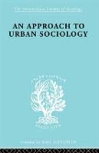 Approach Urban Sociol  Ils 168 - P. H. Mann - cover