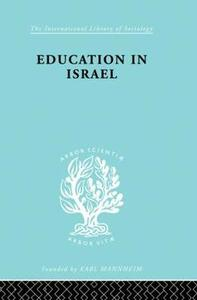 Education in Israel ILS 222 - Jose S. Bentwich - cover