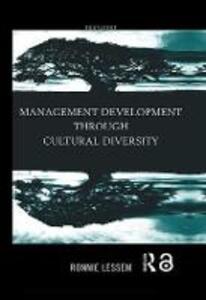 Management Development Through Cultural Diversity - Ronnie Lessem - cover