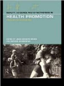 Quality, Evidence and Effectiveness in Health Promotion - cover