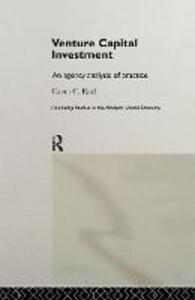 Venture Capital Investment: An Agency Analysis of UK Practice - Gavin C. Reid - cover