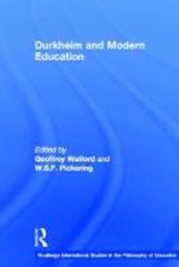 Durkheim and Modern Education - cover