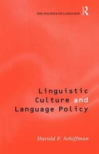 Linguistic Culture and Language Policy - Harold Schiffman - cover