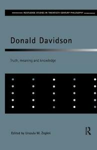 Donald Davidson: Truth, Meaning and Knowledge - cover