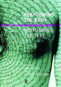 Performing the Body/Performing the Text - cover