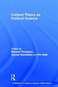 Cultural Theory as Political Science - cover