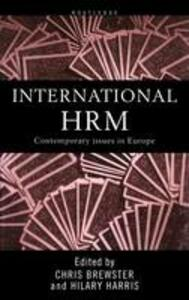 International Human Resource Management: A European Perspective - cover