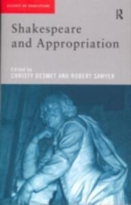 Shakespeare and Appropriation - cover