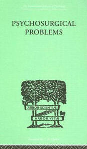 Psychosurgical Problems - Fred A. Mettler - cover