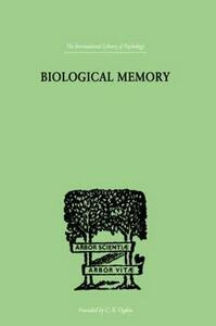 Biological Memory - Eugenio Rignano - cover