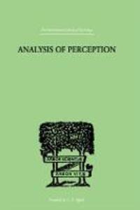 Analysis Of Perception - J. R. Smythies - cover