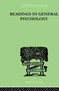 Readings In General Psychology - Paul Halmos,Alan Iliffe - cover