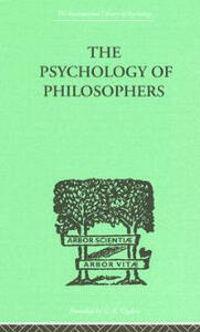 The Psychology Of Philosophers - Alexander Herzberg - cover