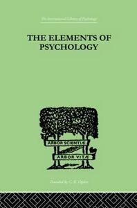 The Elements Of Psychology - E. L. Thorndike - cover