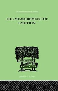 The Measurement of Emotion - W. Whately Smith - cover