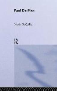 Paul de Man - Martin McQuillian - cover