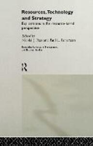 Resources, Technology and Strategy - cover