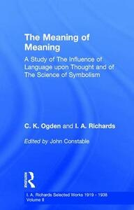 Meaning Of Meaning         V 2 - John Constable - cover