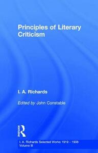 Princ Literary Criticism V3 - John Constable,I. A. Richards - cover