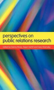 Perspectives on Public Relations Research - Danny Moss,Dejan Vercic,Gary Warnaby - cover