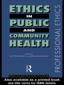 Ethics in Public and Community Health - cover