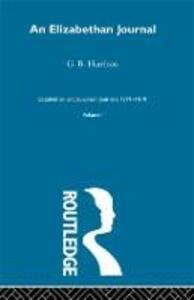 An Elizabethan Journal      V1 - G. B. Harrison - cover