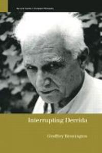 Interrupting Derrida - Geoffrey Bennington - cover