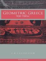 Geometric Greece: 900-700 BC