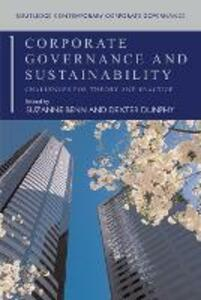 Corporate Governance and Sustainability: Challenges for Theory and Practice - cover