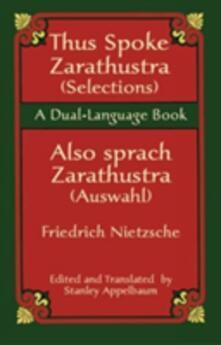 Thus Sprach Zarathustra / Also Spra - Friedrich Nietzsche - cover