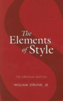 The Elements of Style - William Strunk - cover
