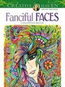 Libro in inglese Creative Haven Fanciful Faces Coloring Book Miryam Adatto
