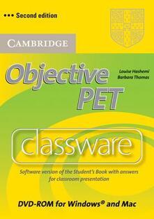 Objective PET. DVD-ROM - Louise Hashemi,Barbara Thomas - copertina