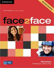 face2face Elementary Workbook without Key - Chris Redston - cover