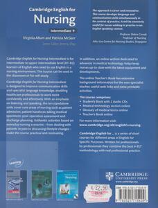 Cambridge english for nursing. Con 2 CD Audio - Virginia Allum,Patricia McGarr,Jeremy Day - 2