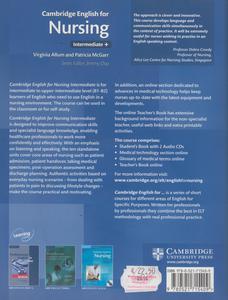 Libro Cambridge english for nursing. Con 2 CD Audio Virginia Allum , Patricia McGarr , Jeremy Day 1