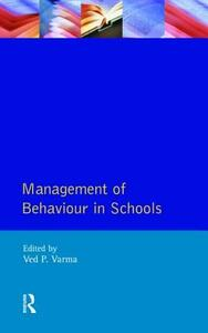 Management of Behaviour in Schools - Ved P. Varma - cover