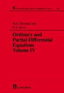Ordinary and Partial Differential Equations - R.J. Jarvis,B. D. Sleeman - cover