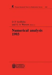 Numerical Analysis 1993 - D. F. Griffiths,G. A. Watson - cover