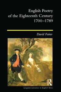 English Poetry of the Eighteenth Century, 1700-1789 - David Fairer - cover
