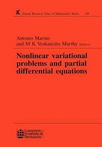 Nonlinear Variational Problems and Partial Differential Equations - A. Marino,M. K. Venkatesha Murthy - cover
