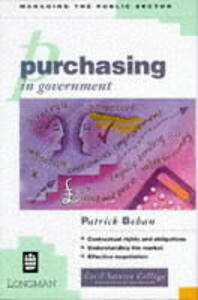 Purchasing in Government - Patrick Behan - cover