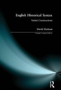 English Historical Syntax - David Denison - cover