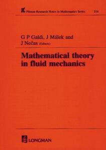 Mathematical Theory in Fluid Mechanics - G.P. Galdi,Josef Malek,J. Necas - cover