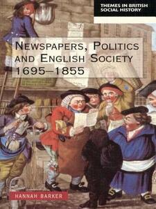 Newspapers and English Society 1695-1855 - Hannah Barker - cover