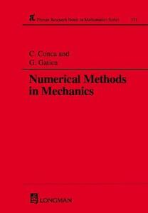 Numerical Methods in Mechanics - Carlos Conca,Gabriel N. Gatica - cover