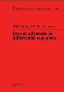 Recent Advances in Differential Equations - H-H. Dai,P. L. Sachdev - cover
