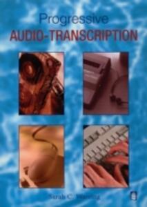 Progressive Audio Typing - Sarah C. Wareing - cover