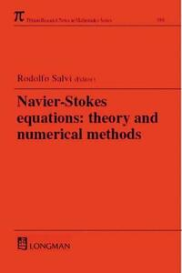 Navier-Stokes Equations: Theory and Numerical Methods - Rodolfo Salvi - cover
